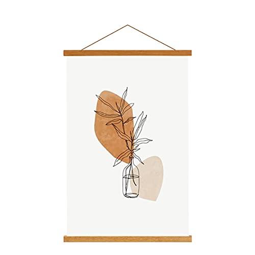 Sanauto A4 Posterleiste Posterschiene Posterleisten 21CM, Magnet Magnetische Holz Poster Aufhänger Halter Rahmen Leisten Bilder Bild Bilderleiste Bilderrahmen (21cm, Teak)