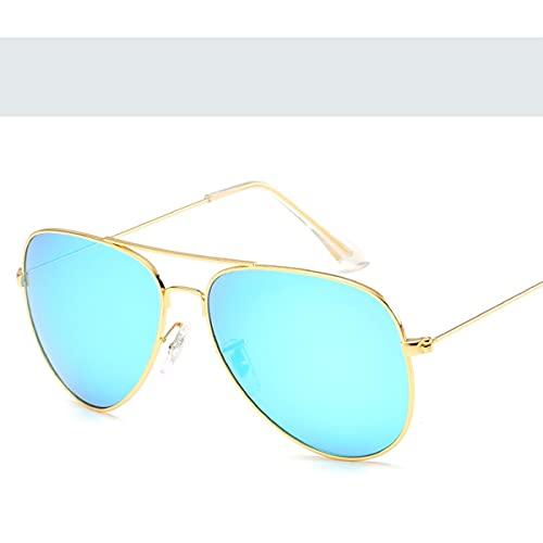HHuin Gafas de sol estilo simple marco sólido personalidad marco gafas de sol metal moda gafas de sol reflectantes