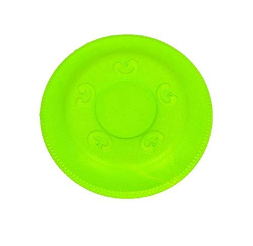 ZHUYU Disco Volador para Perro/Perro Frisbee/para diversión interactiva al Aire Libre/Cuenco de Mascota Frisbee, Verde