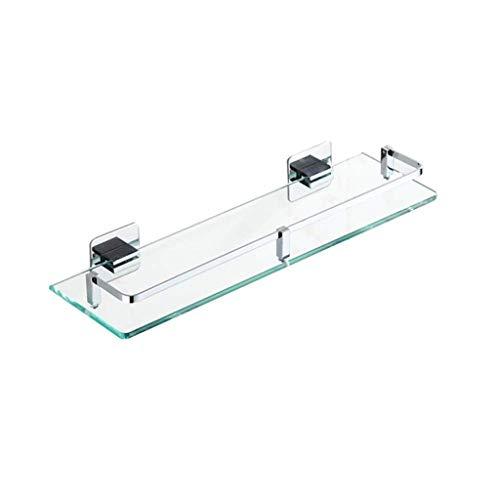 Gehard glazen plankje, Ponsvrije badkamer douche, messing cosmetische houder, 6-Dimension Spiegel Voorste plank (Maat: 61 cm / 24 '') 41cm/16.1''