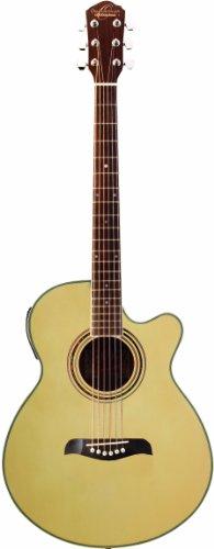 Oscar Schmidt og10cen-a-u concert-size Cutaway Guitarra Electroacústica guitarra–Natural