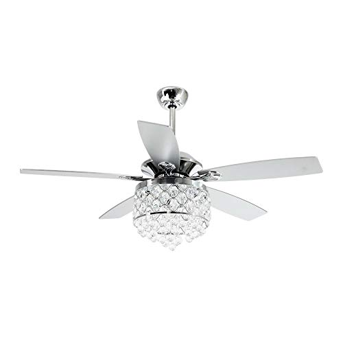 52 Inch Remote Control Ceiling Fan With Light 5 Blades...