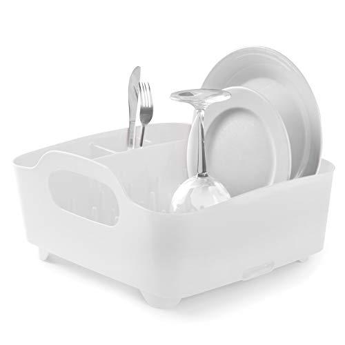 Umbra 330590-660–Escurridor de platos y vasos, 36x32,5x15,5cm, color blanco