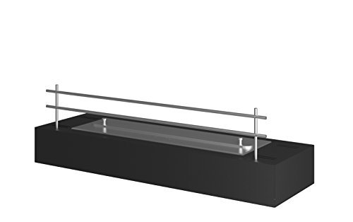 Cheminée au bioéthanol FIREBOX60 - Noir, 60 x 19 x 17,2 cm