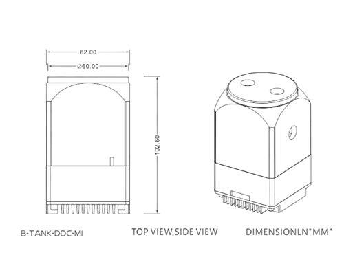 Black B-Tank-DDC-MI Bykski Mini DDC Pump Reservoir Combo w//Armor