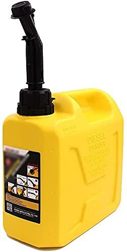 Recipientes para gasolina,Latas de gasolina anticorrosivas espesadas portátiles, lata de combustible de plástico de gran capacidad, tanque de repuesto diésel, transporte, camping(Color:Green;Size