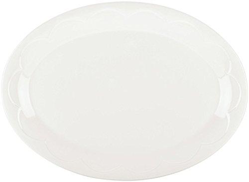 kate spade new york Kitchen Scalloped Cream 14 Inch Oval Serving Platter