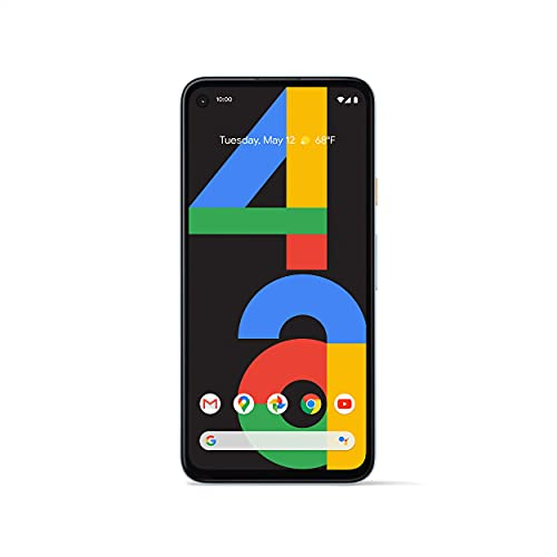 Google Pixel 4a - Unlocked Android Smartphone - 128 GB of Storage - Up to 24 Hour Battery - Barely Blue (Renewed)