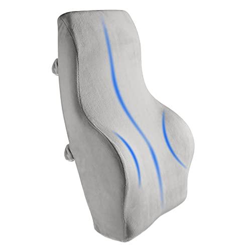 Cojín de apoyo lumbar, espuma de memoria, cojín de apoyo de espalda baja, almohada lumbar para muebles de oficina en casa, ergonomía, diseño ortopédico alivia el dolor de espalda y coxis