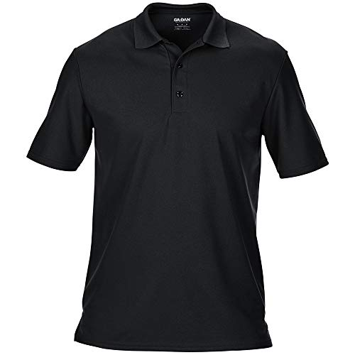 Gildan Herren Performance Sport Double Pique Polo-Shirt (3XL) (Schwarz)