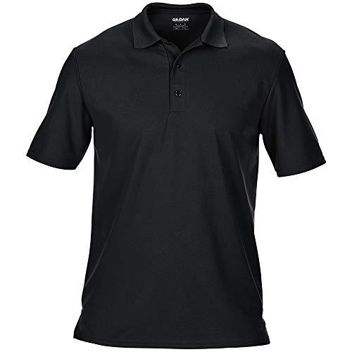 Gildan Herren Performance Sport Double Pique Polo-Shirt (3XL) (Schwarz)