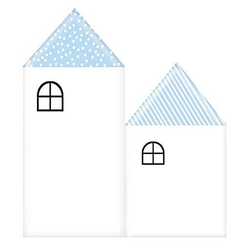 Tapete Weiche Wandpaneele Wandverkleidung Dekor Fliesen Wandaufkleber Kinderzimmer Kollision Weicher Fall Karikatur Selbstklebend, 4 Farben, 6 größen ( Color : Blue , Size : 500x600mm )