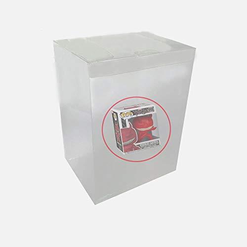 Childhood Funda protectora transparente para carcasa del manguito del CIB, grosor 0,4 mm, compatible con figuras de vinilo Funko Pop de 6 pulgadas