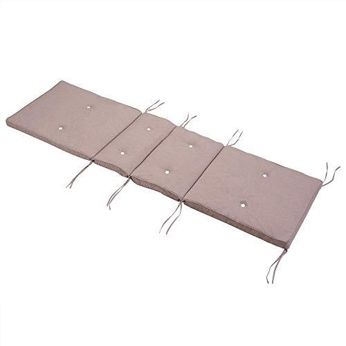 Detex Cojín para chaiselongue Rosa Colchoneta Moderna Almohadilla Acolchada para Tumbona 194x55x5cm