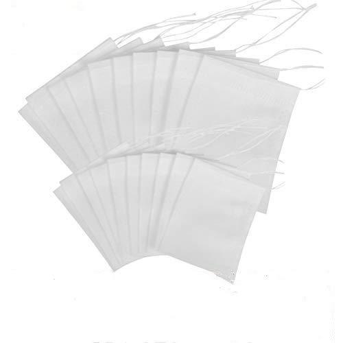 OFNMY 200pcs Bolsas de Te Cordon - Bolsas de Te Desechables Bolsas de Filtro para Te de Hojas Sueltas 7 * 9cm + 7 * 5.5cm (Blanco)