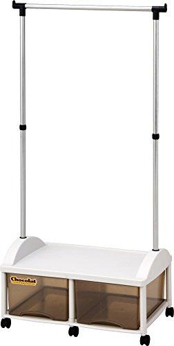和泉化成 ショコラ ハンガーボックス2W型キャスター付 (66×44.5×高140cm)