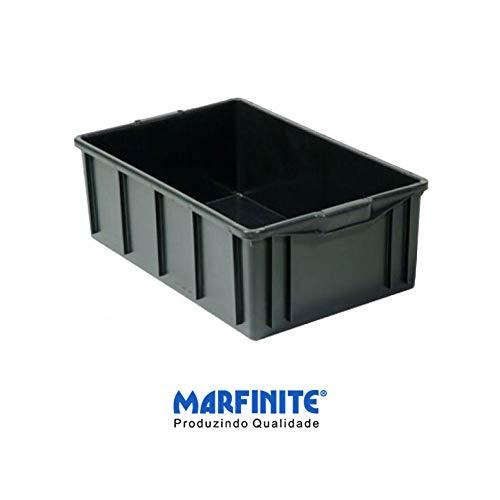 Caixa Marfinite 39l Cinza Sem Tampa Modelo 1013