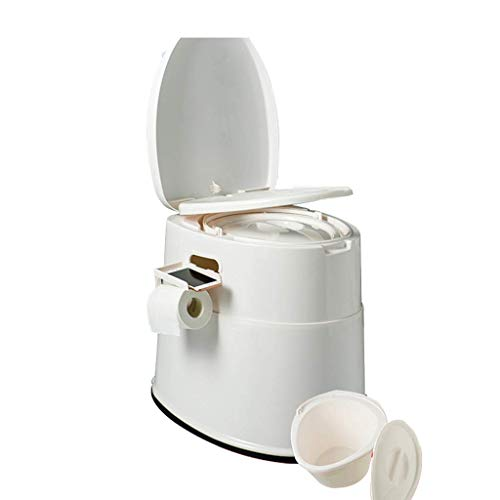 Pratico Comodo WC da Campeggio WC da Campeggio Leggero e Portatile con Sedile, Coperchio, Maniglia e Supporto per Rotolo per Uso Interno ed Esterno (Colore: Grigio, Dimensioni: 2) Facile da Usare
