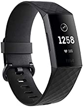 Fitbit Charge 3 Fitness Activity Tracker, Graphite/Black, one Size (no fitbit Warranty Support), 0.06 Pound