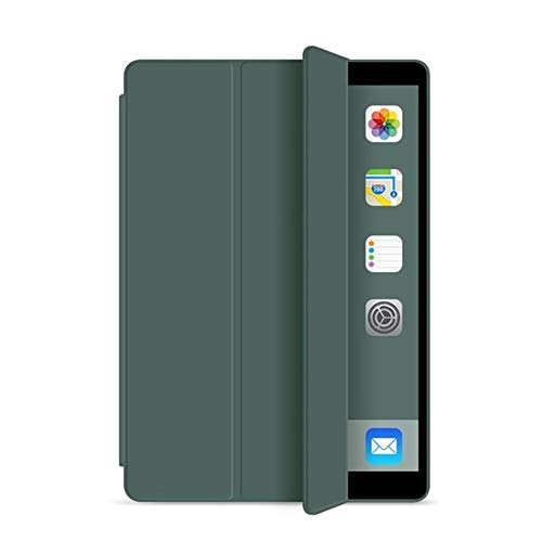 NVFED for iPad 5th 6th 9.7 in 2017 2018 Case 7th 10.2' 2019 Mini 5 Air 3 10.5 inch New Pro 11 Soft Silicone PU Smart Sleep Cover Funda (Color : Dark Green, Size : Pro 11 2nd 2020)