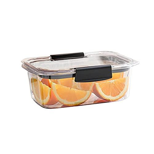 NSQQ Caja de Almacenamiento de microondas Transparente Rectangular Caja de Almacenamiento de microondas Sellado a Prueba de Fugas Caja de Almuerzo para la Tienda de Alimentos 603 (Color : Black)