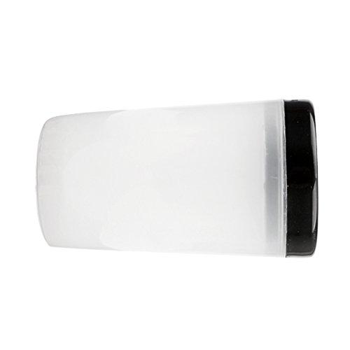 Sharplace Copa Limpiador de Cepillo de Esmalte Acrílico Gel de UV Inmersión para Pinceles de Plástico