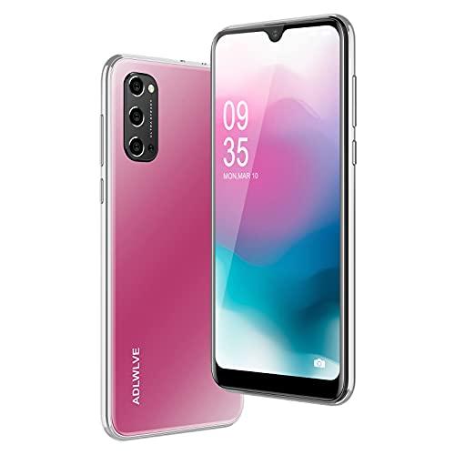 4G Smartphone Offerta del Giorno,3GB RAM 32GB ROM,6.3 Pollici Waterdrop Android 9.0 Cellulari e Smartphone 8MP Fotocamera Telefono Cellulare con Wifi Dual SIM 4600mAh Cellulare Offerta (Rosa)