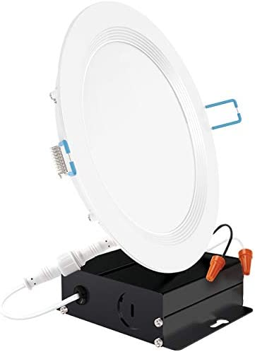 Sunco Lighting 6 Inch Slim LED Downlight Baffle Trim Junction Box 14W 100W 850 LM Dimmable 6000K product image