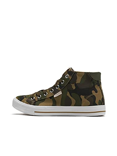 Urban Classics High Top Canvas Sneaker, Zapatillas Altas Unisex Adulto, Multicolor (Woodcamo/White 01637), 44 EU