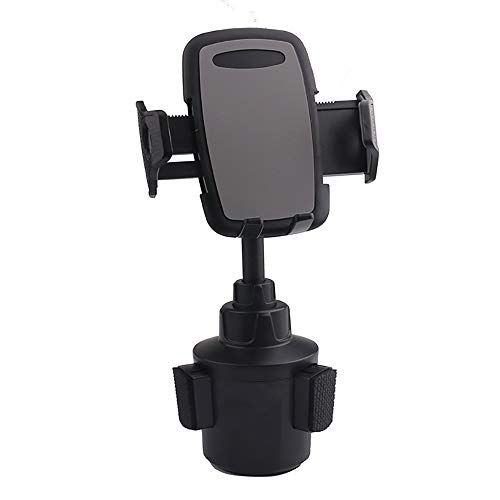Emoly Cup Phone Holder for Car Universal Adjustable Gooseneck Portable Cup Holder Car Mount for iPhone Xs, Samsung Galaxy S10 S10E S9 S8 S7 Edge S6 Note 5, Xperia, iPod, Smartphone (2020, Black)