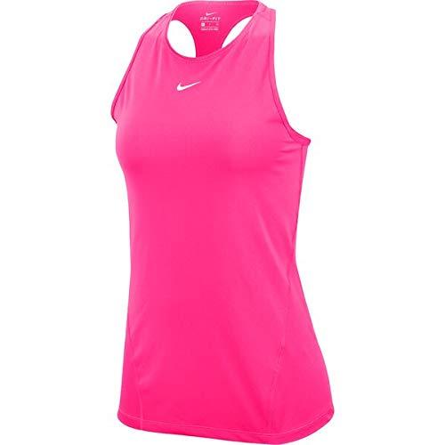 NIKE All Over Mesh Tanktop Camiseta de Tirantes para Mujer, Rosa/Blanco, Large