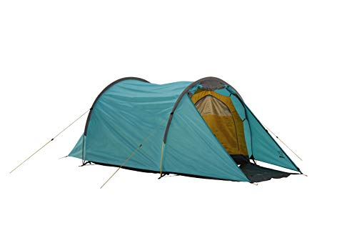 Grand Canyon ROBSON 2 - Tienda de túnel para 2 personas, ultraligera, impermeable, tamaño pequeño - Tienda para trekking, camping, outdoor | Blue Grass (azul)