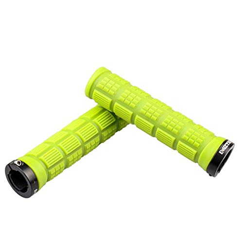 YLYBDDD Handlebar Grips MTB Mountain Bike Cycle Bicycle Lock Handle Grips Durable Rubber Grip Anti-Slip Parts 1 Pair Green