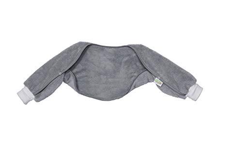 Odenwälder Ärmelinchen | Schlafsackärmel Babyschlafsack | Schlafsack Ärmel für Babyschlafsäcke | Oberstoff 100% Baumwolle, Größe:90, Design:Graphite