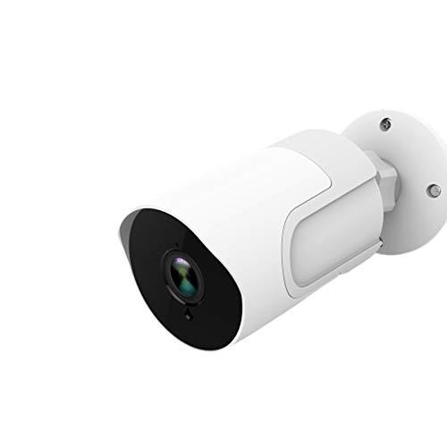 SUN JUNWEI Cámara IP WiFi Cámara IP Al Aire Libre 1080P Impermeable Infrarrojos Visión Nocturna Tarjeta SD Video Vigilancia para El Hogar Compatible con Google Echo Y Amazon Alex