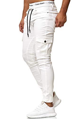 OneRedox Herren Chino Pants | Jeans | Skinny Fit | Modell 3207 Weiß 32/32