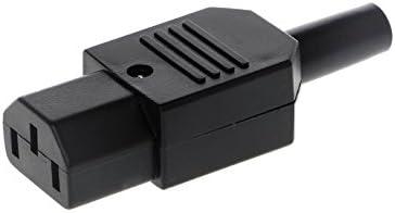 3 Pin IEC 320 C14 Male Plug Rewirable Power Connector Socket AC Panel Socket WS
