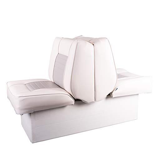 Ocean TEC 2 in 1 Back to Back Doppel Sitz und Liege mit Aufbewahrungsbox weiß-grau