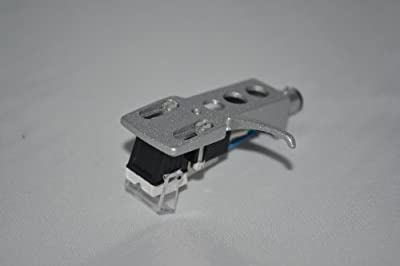 Silver Turntable Headshell Mount with cartridge for Technics SL2000, SL3310, SL 20, SL 20A, SL 23A, SL B2, SL B202, SL B205, SL B3 Turntables