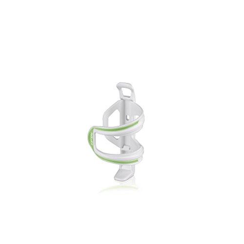 XLC Unisex– Erwachsene Zubehör Trinkflaschenhalter Sidecage BC-S06, Weiß, Grün, One Size