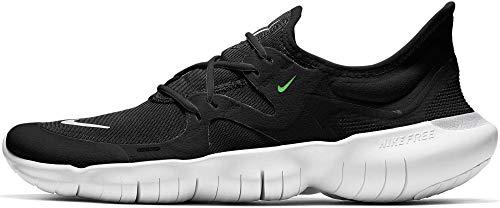 Nike Free RN 5.0 Men's Running Shoe Black/White-Anthracite-Volt 9.0