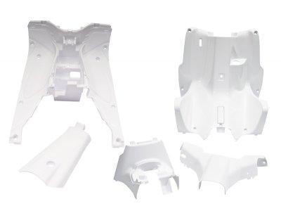 Innenraum Verkleidung 5 Teilig in Weiss Yamaha Aerox MBK Nitro