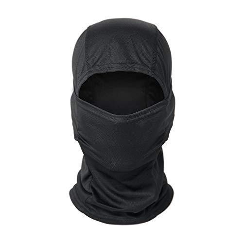 HamLen Headwear Balaclava Face Mask UV Protection for Men Women Ski Sun Hood Tactical Cycling Sports Masks -  black -  One Size