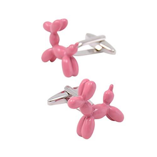 Cufflez Cufflinks - Boutons de manchette Le must pour chaque tenue - Chien ballon rose