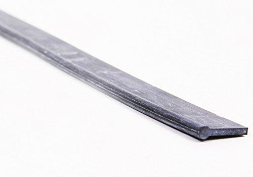 Ersatzwischergummi für Profifensterabzieher von LEWI (55 cm) | Gummilippe mit Überstand + robustes Hartgummi + leichter Austausch + streifenfreie Fensterreinigung | inkl. Gratisprobe GlasRein