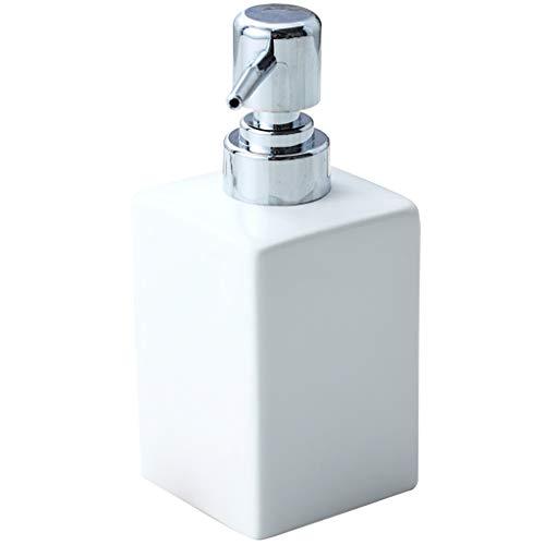 10,8 Oz Distributeur de Savon Bouteille en Verre étanche Pompe Rechargeables Une Pression Distributeur de Savon for Salle de Bains Cuisine Countertop (Color : White)