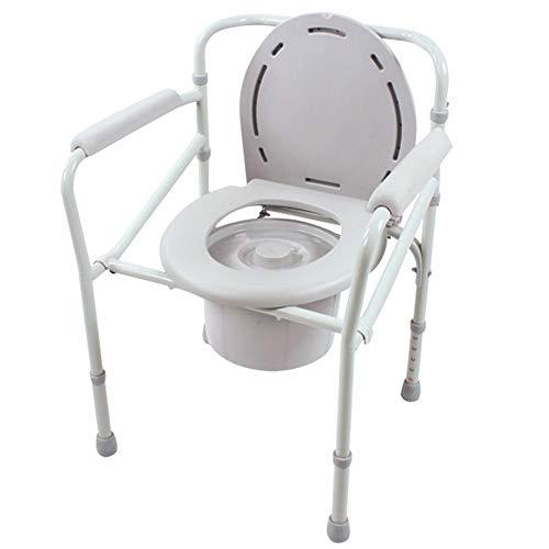 YYXXL Aseo Silla con Orinal Asiento, el Asiento Portable de Inodoros, Inodoro móvil heces, Altura Ajustable, for los Ancianos, Las Personas con discapacidad y Personas con Movilidad Reducida