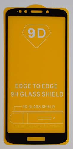 1x Full Cover Schutzglas für Motorola Moto G6 Play in Schwarz Glasfolie 9H 5D 6D 9D Bildschirmschutzfolie Glass Premium Tempered Glass Protection (kein 3D Glas)