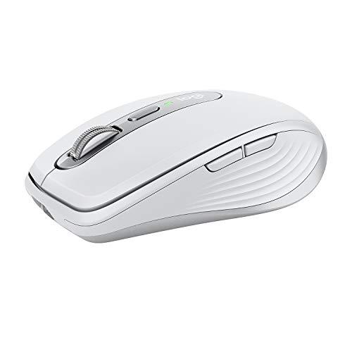Logitech MX Anywhere 3 per Mac Mouse Compatto Performante, Wireless, Scroller Magnetico Veloce, Su Ogni Superficie, Sensore 4000 DPI, Pulsanti Custom, USB-C, Bluetooth, Mac, iPad, Windows, Grigio