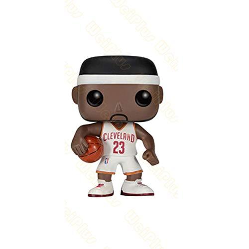 MXXT Pop Figure NBA Figura Lebron James # 23 Cle Home Chibi PVC Q Version Vinyl 10cm Bobblehead